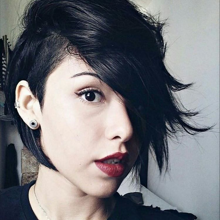 Black Side Bang Hair