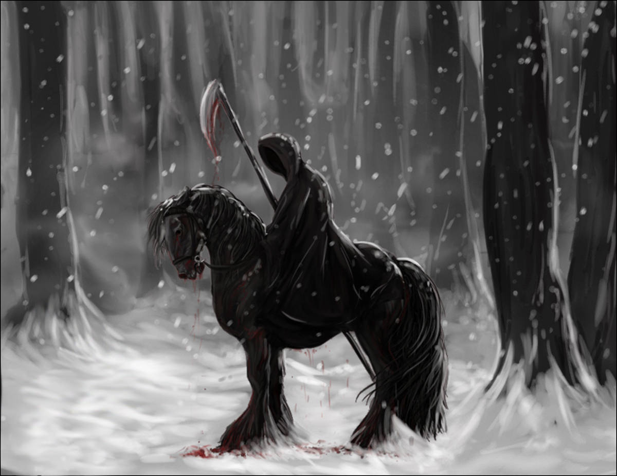 dark warrior reaper hd wallpaper