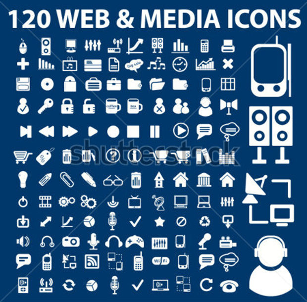 vector illustration of web media icons