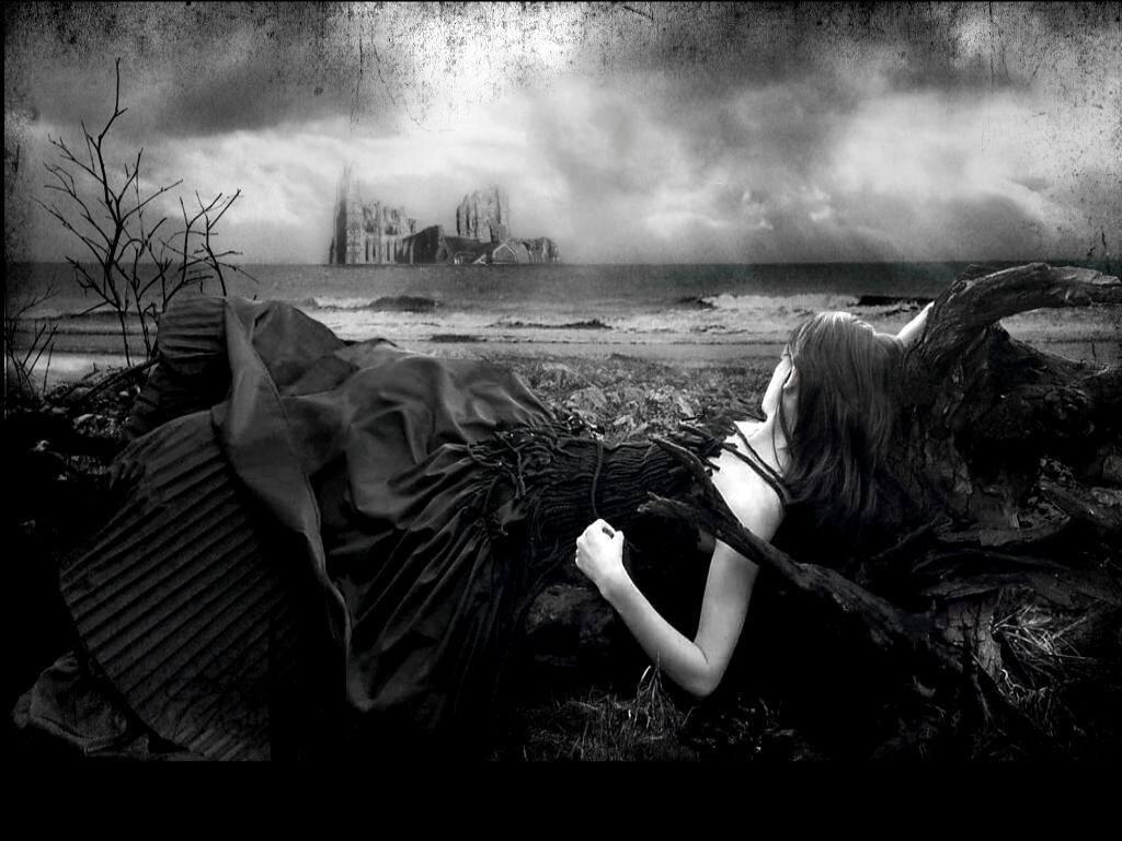 dark gothic hd wallpaper