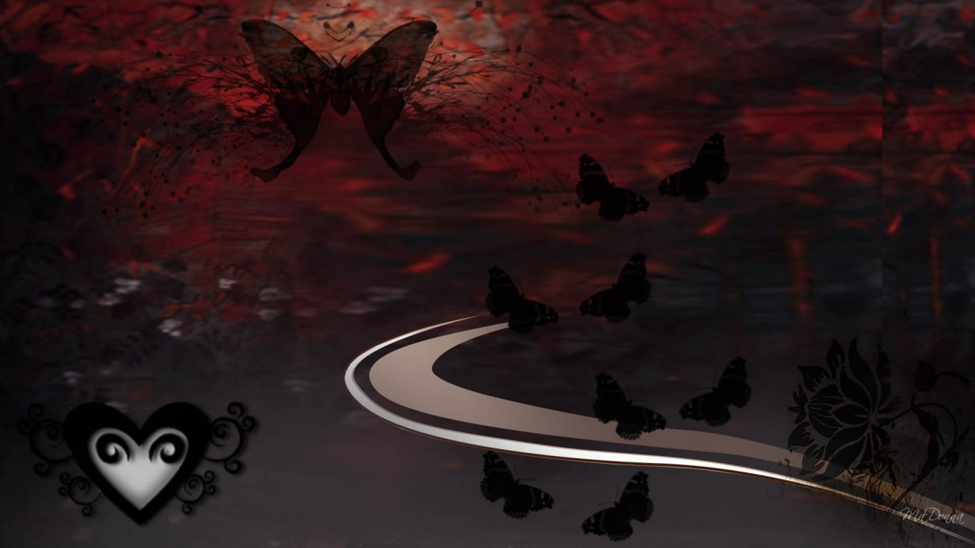 Stunning Dark Butterfly Wallpaper
