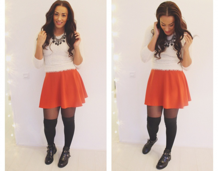 cute skater skirt outfits