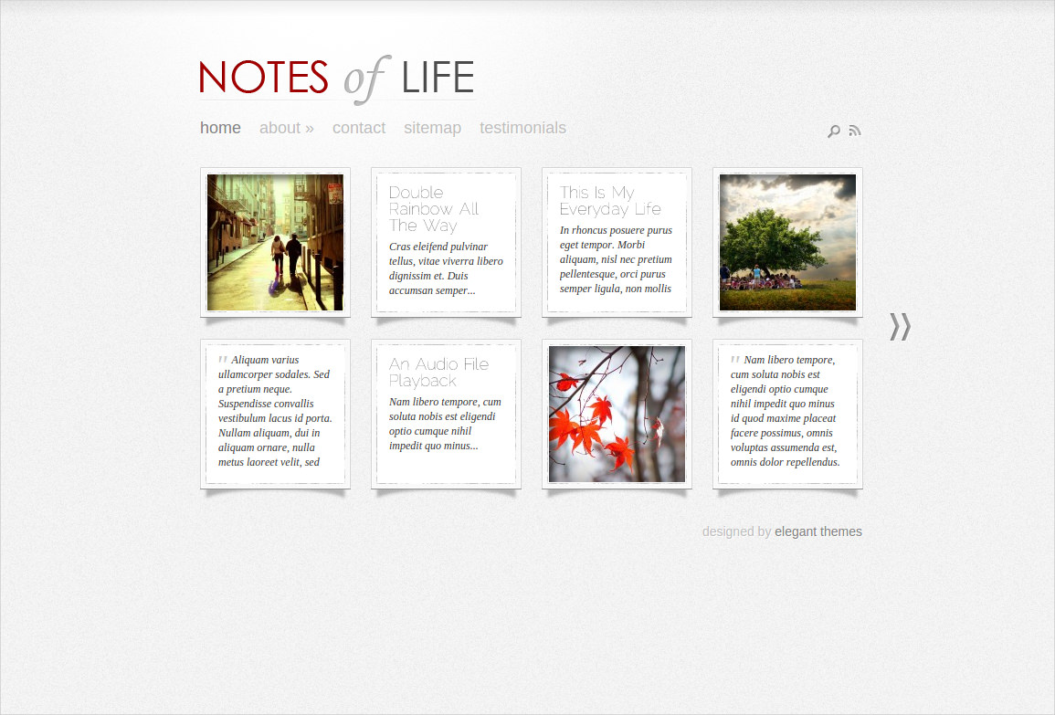 DailyNotes WordPress Theme