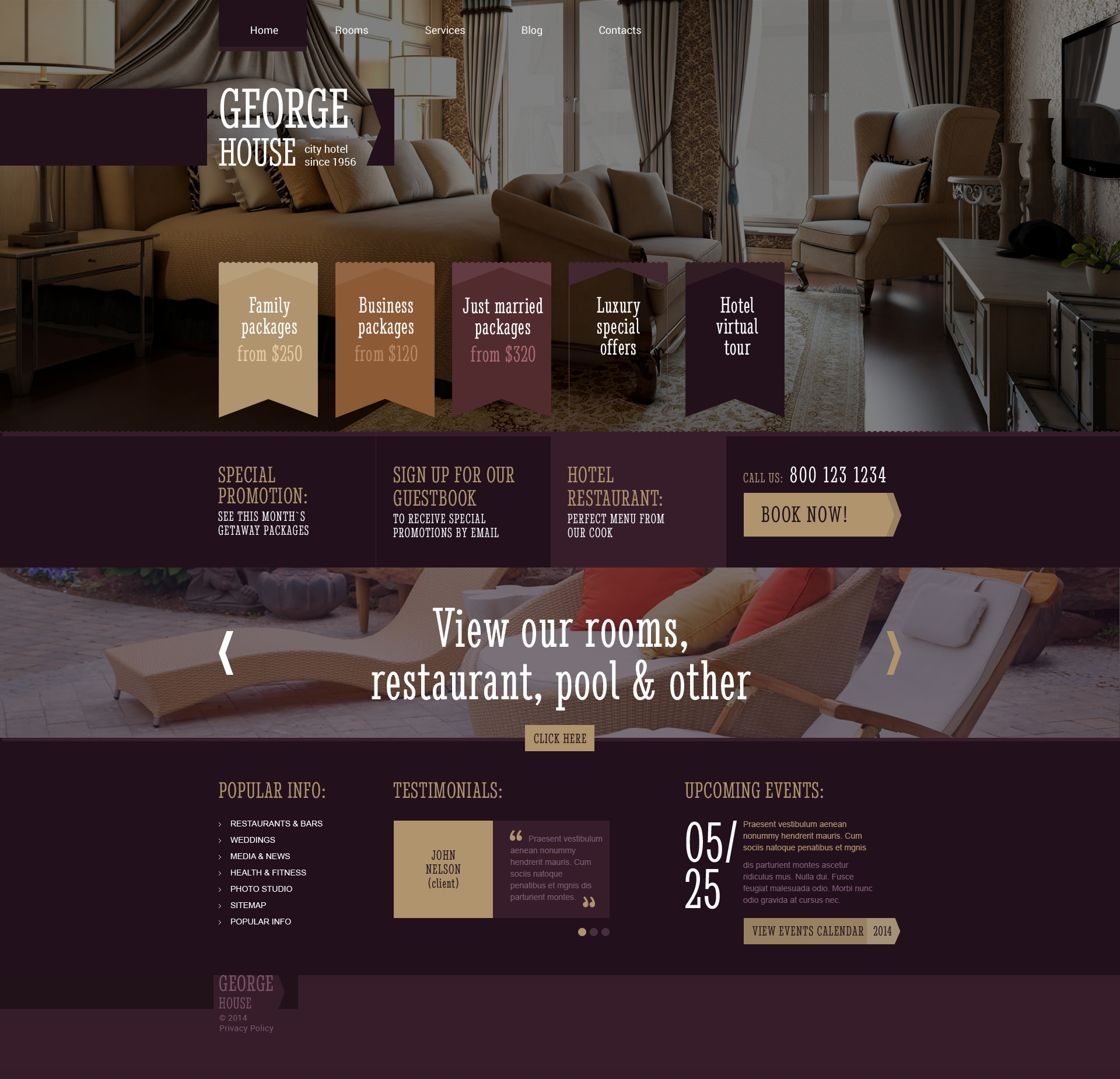 Hotel Booking Template WordPress