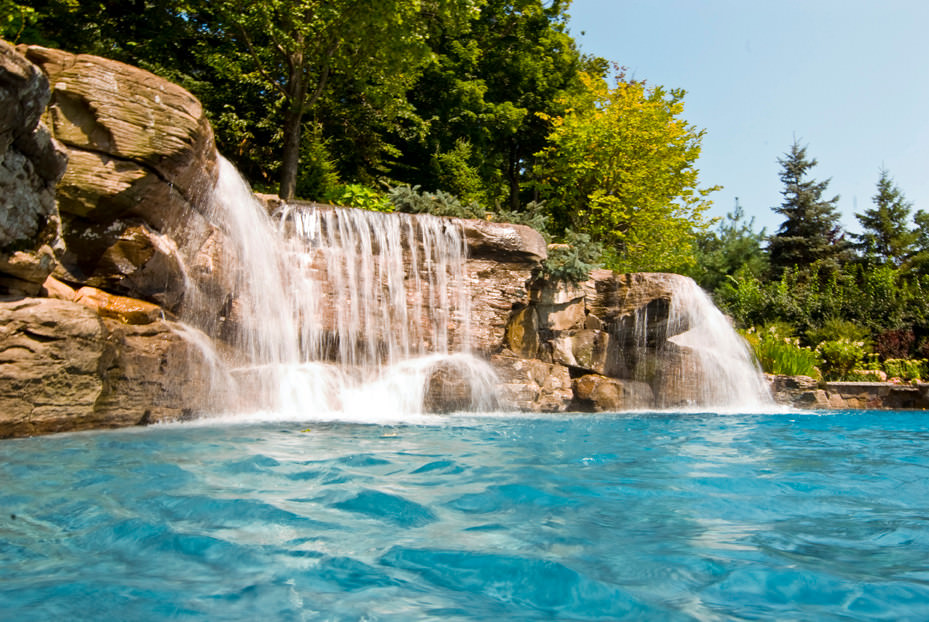 Backyard Pool Waterfall Ideas
