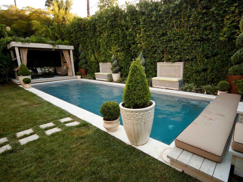 24 backyard swimming pool designs outdoor designs for Backyard inground pool designs