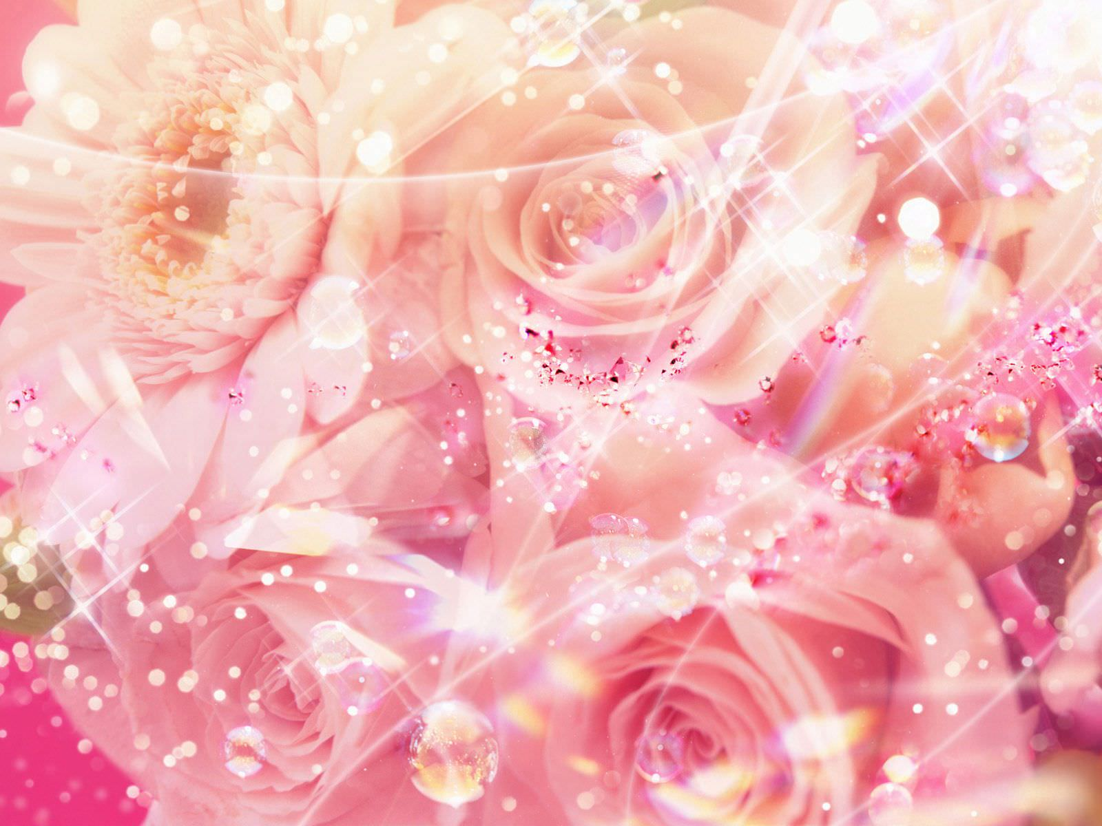 Elegant Background with Pink Roses