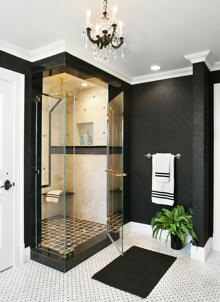 23 black and gold bathroom designs decorating ideas for Black bathroom designs