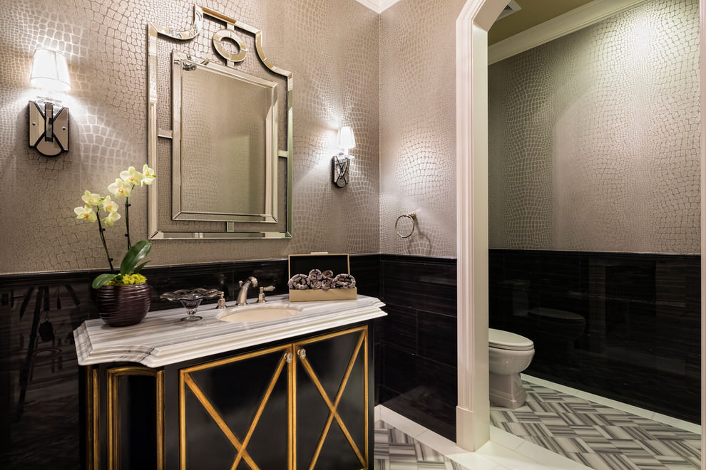Modern Black and Gold Bathroom Ideas