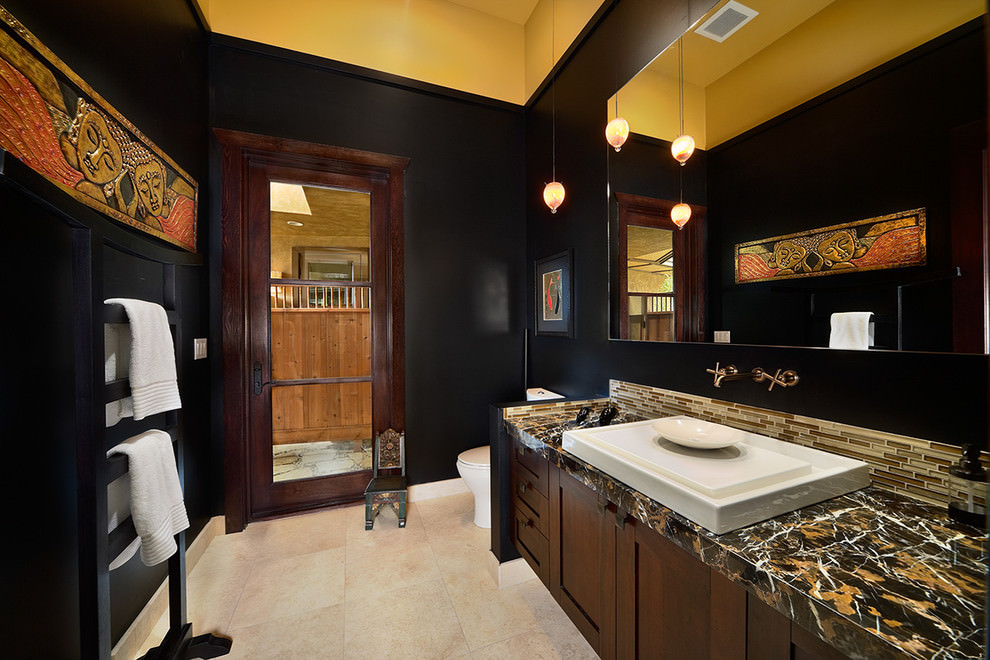 Vintage Black And Gold Bathroom Ideas