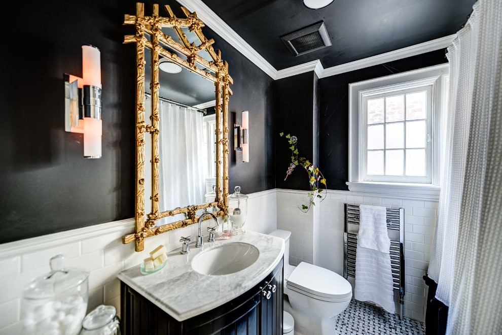 23+ Black and Gold Bathroom Designs, Decorating Ideas | Design ...