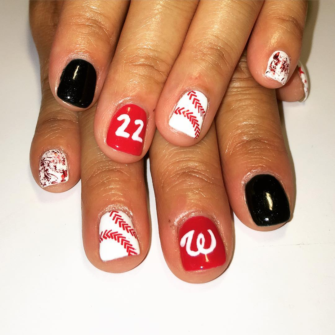 Attractive BaseBall Nail Design - 28+Awesome Base Ball Nail Designs Design Trends - Premium PSD