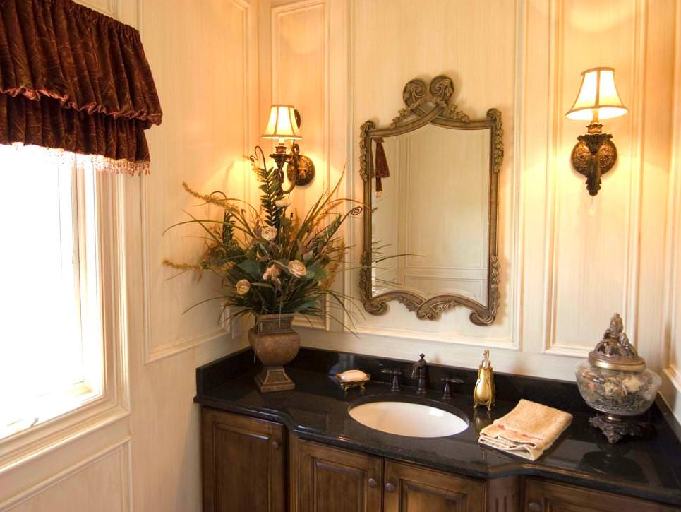 Traditional Black and Gold Bathroom Ideas