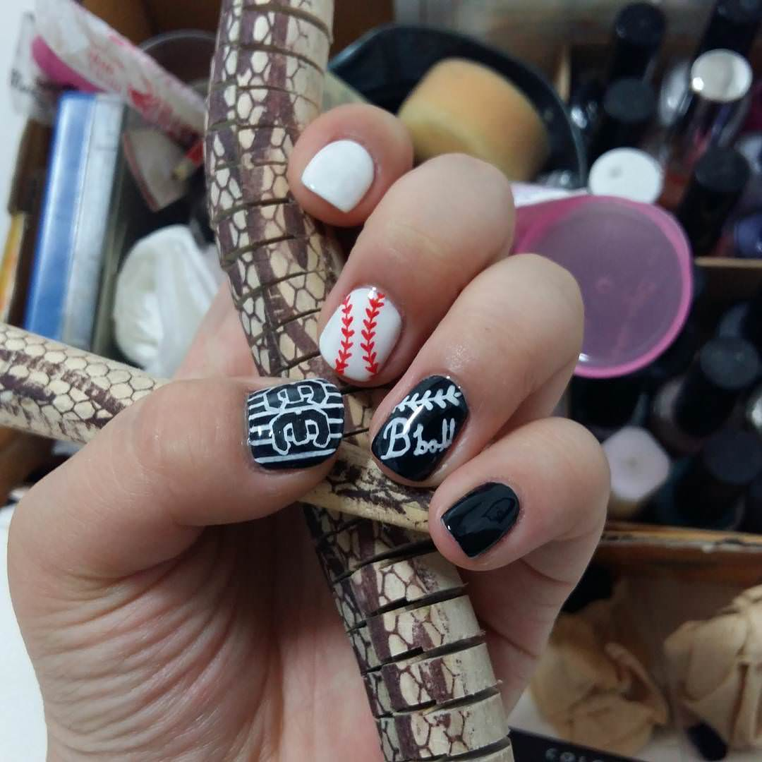 28awesome Base Ball Nail Designs Design Trends Premium Psd