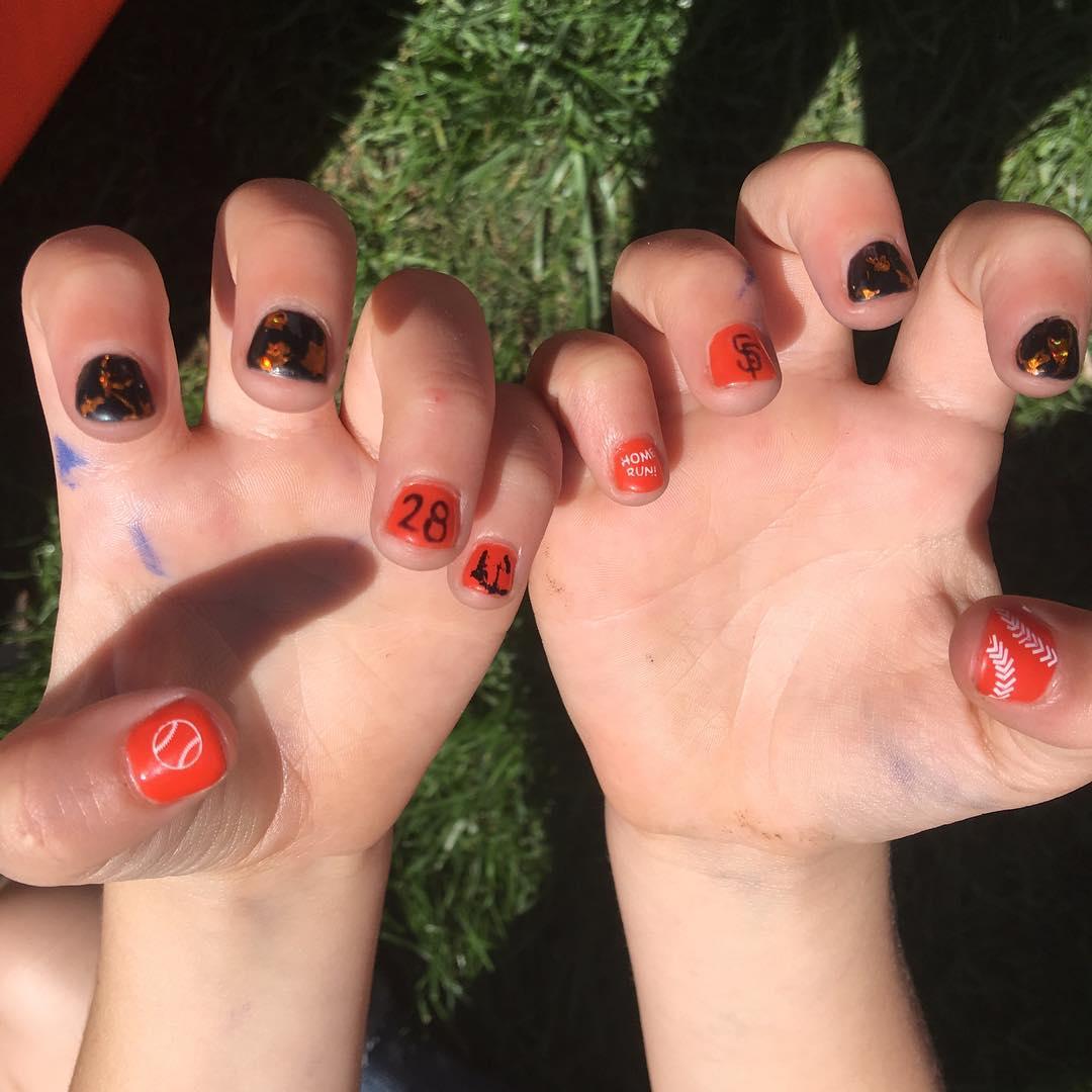 Beautiful Baseball Nails