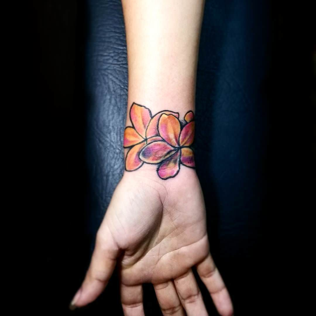 Colorful Flower Tattoo Design