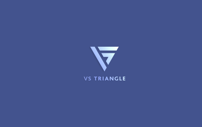 vs triangle logo design