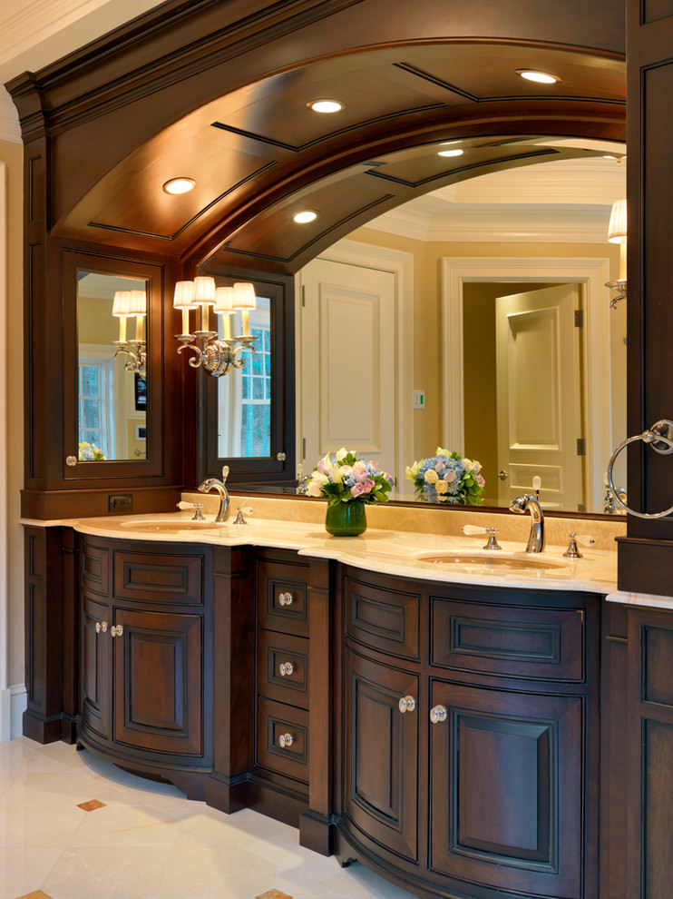 23 bathroom furniture designs ideas plans design for Dark wood bathroom designs