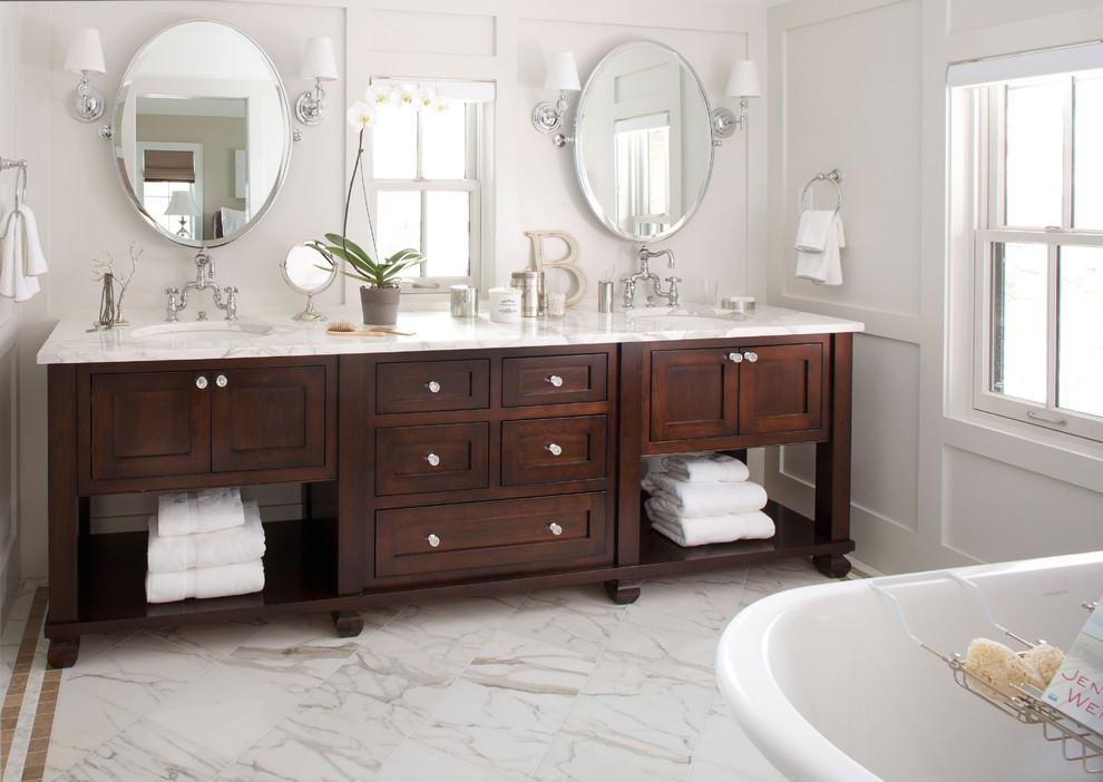 Hardwood Bathroom Cabinets Ideas