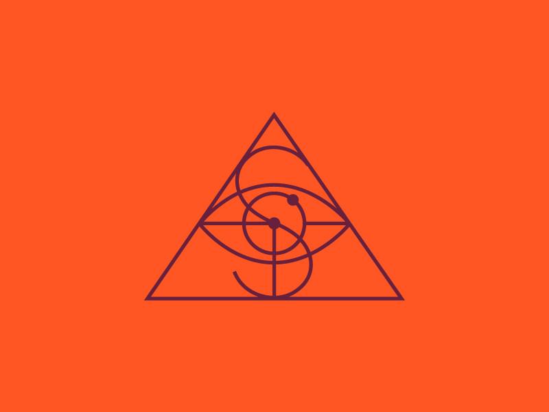 monogram triangular logo