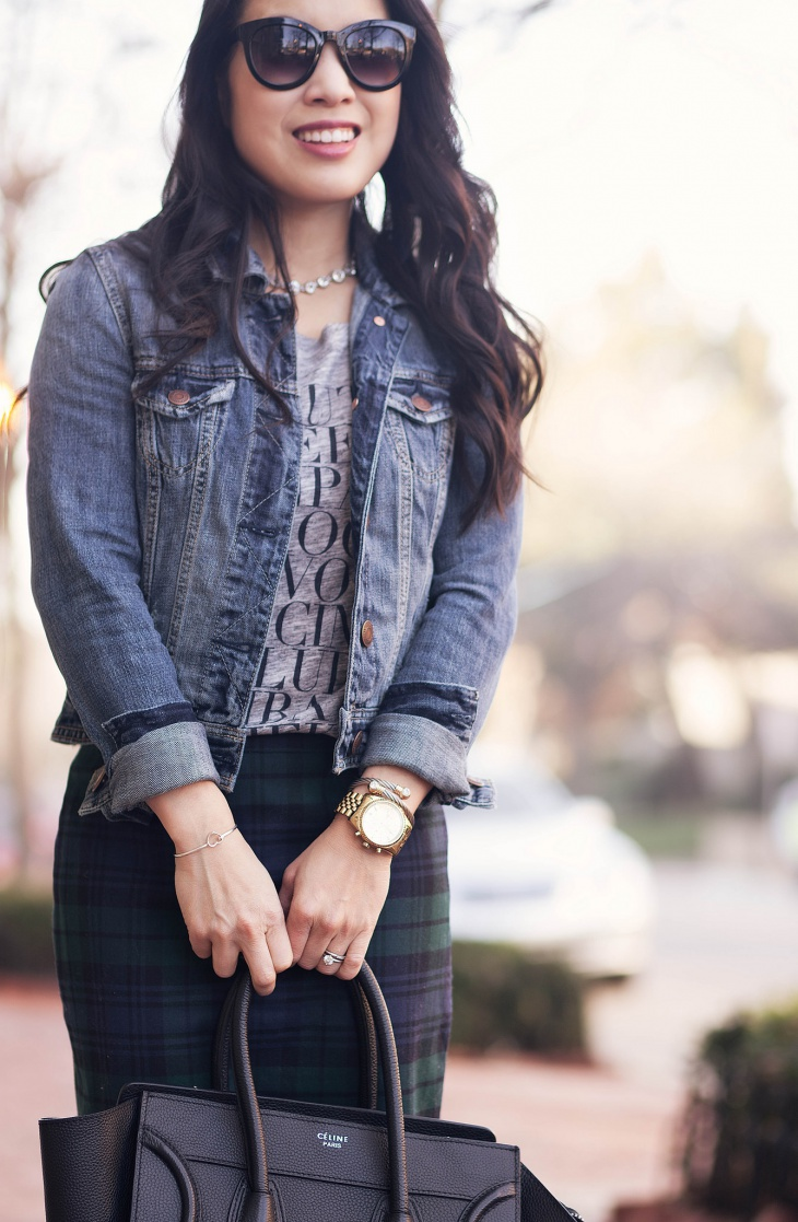 cute outfits with jean jackets