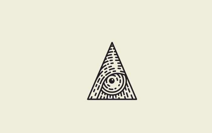 engraved triangle logo