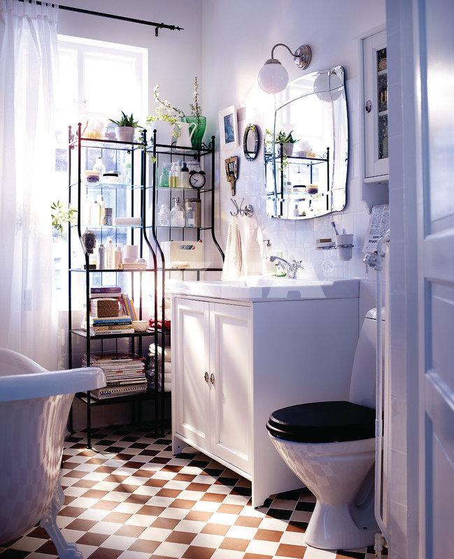 White Bathroom Cabinet Unit Design