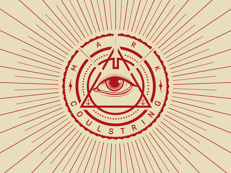 creative triangular logo design