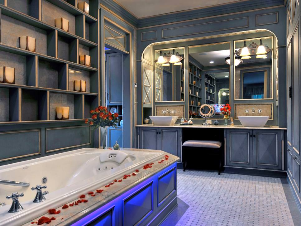 Blue Bathroom Furniture Design
