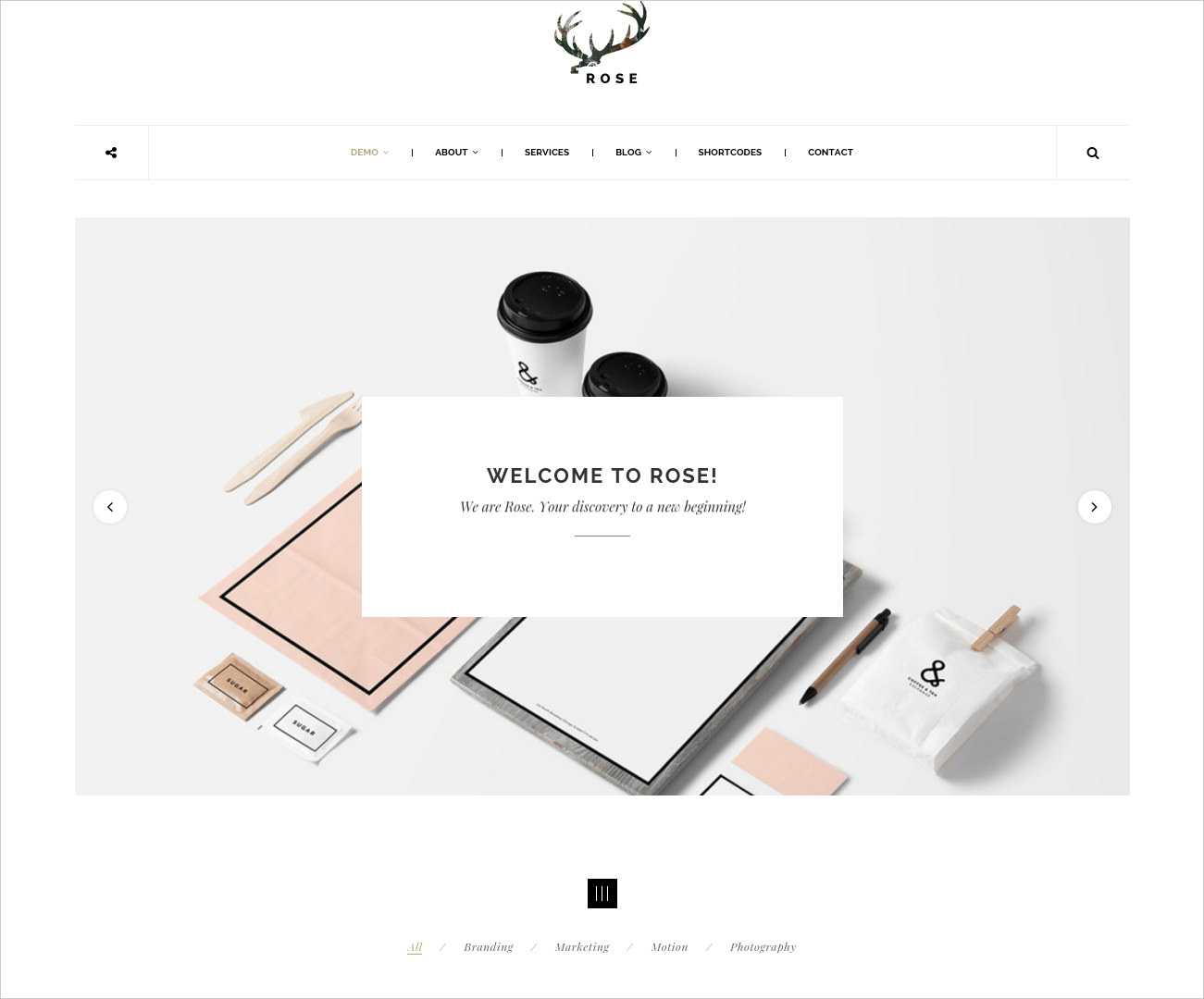 Minimalist Agency Architecture Blog Theme