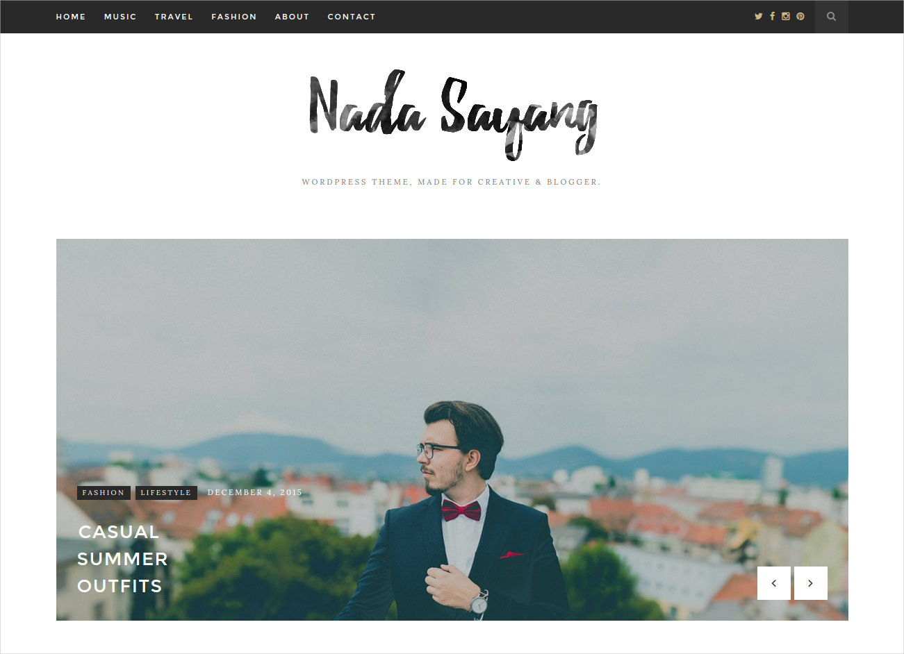 Minimalist & Clean WP Blog Theme