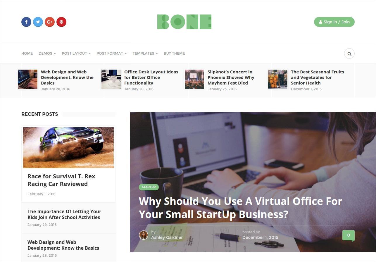 minimalist responsive wp blog theme 44