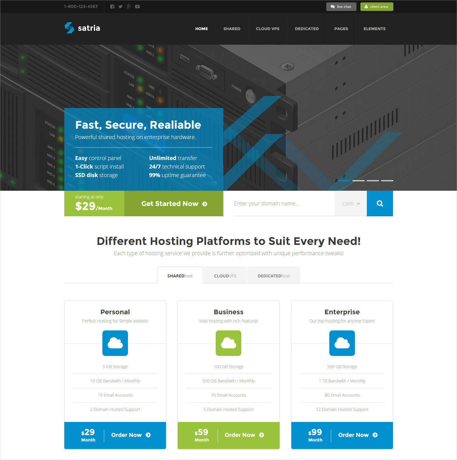 Professional Hosting WP Theme