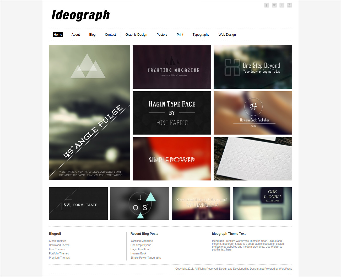 Responsive Ideograph WordPress Theme