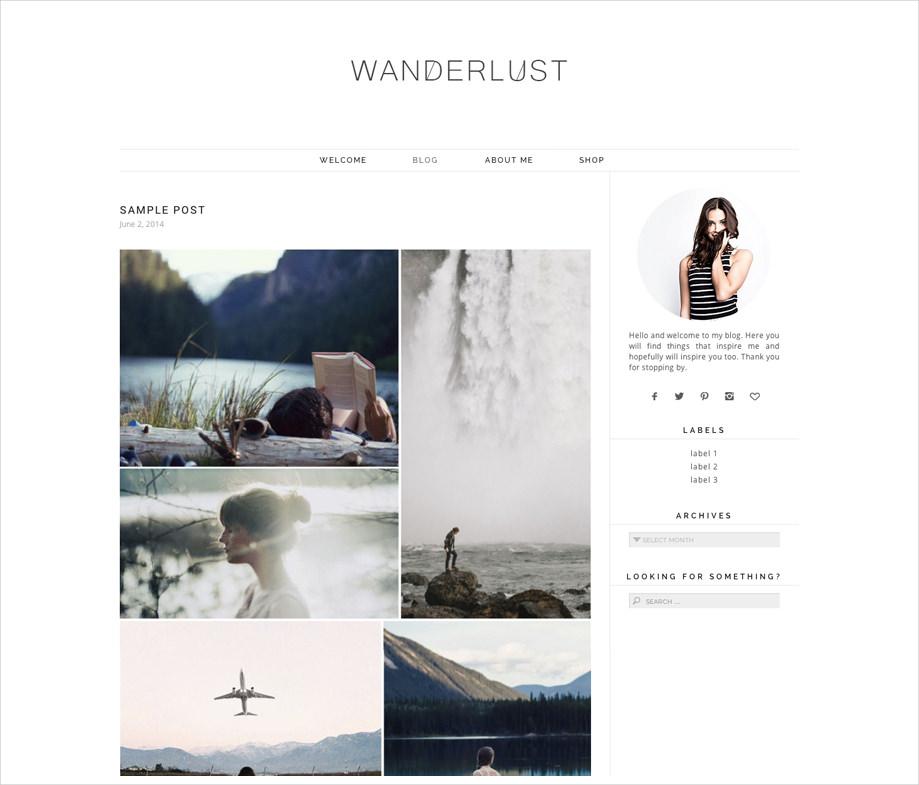 Responsive WP Theme Wanderlust