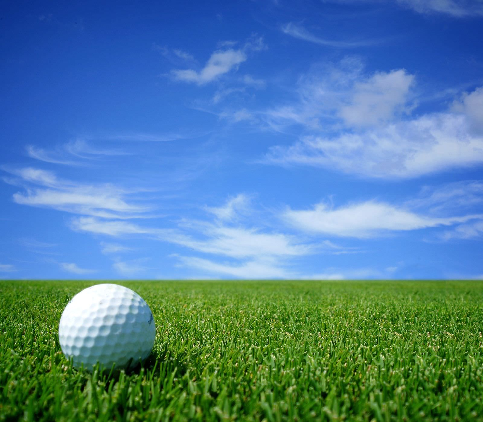 golf ball with sky wallpaper