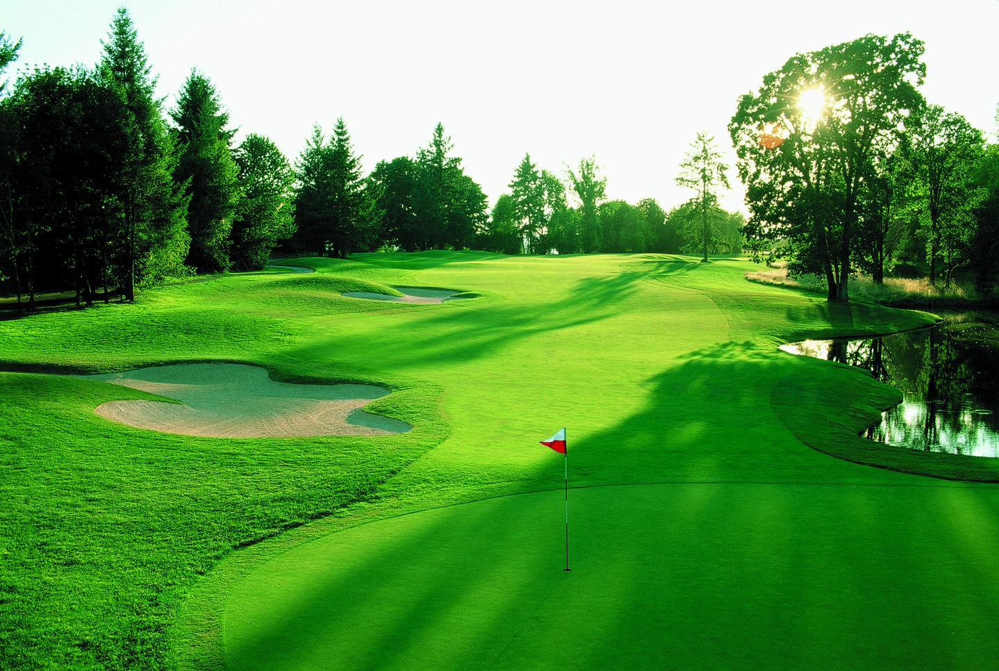 golf course target goal wallpaper background