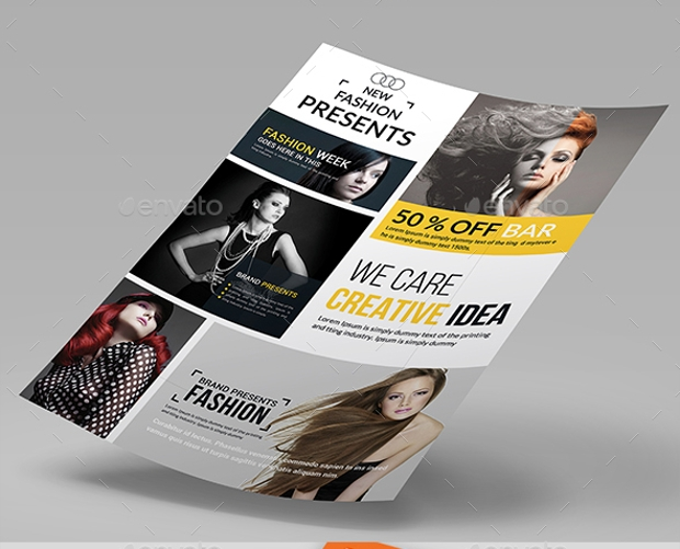 Fashion magazine template indesign