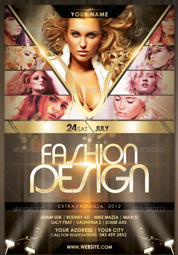 21 Fashion Flyer Designs PSD Download – Fashion Design Brochure Template