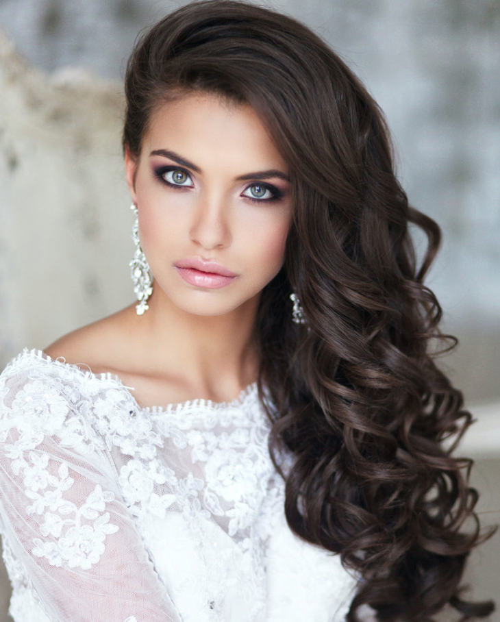 long hair wedding hairstyles long curly down