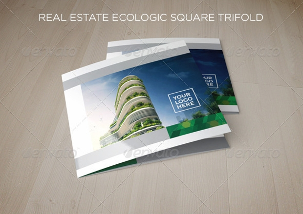 Real Estate Ecologic Square Trifold