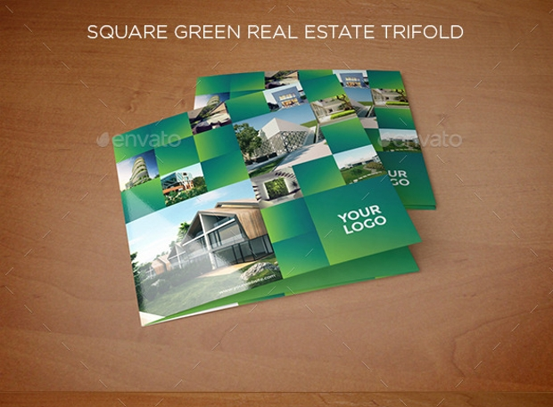 Square Green Real Estate Trifold Brochure