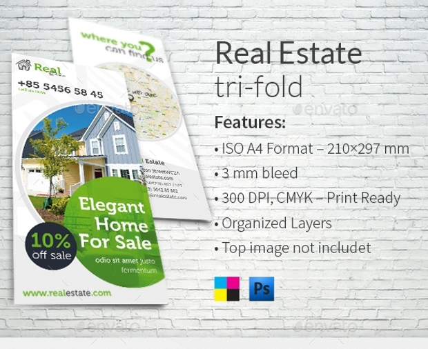 Clean and Modern Real Estate Brochure