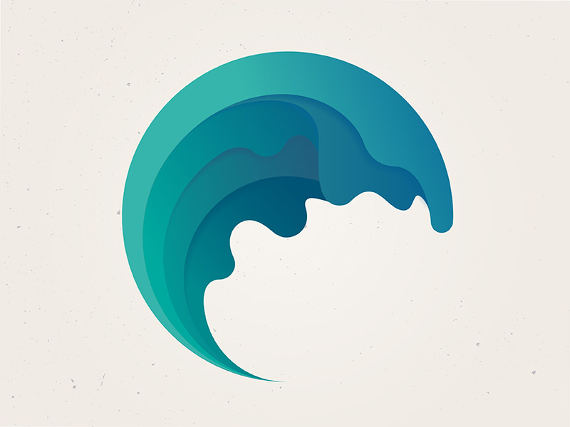 simple wave logo design
