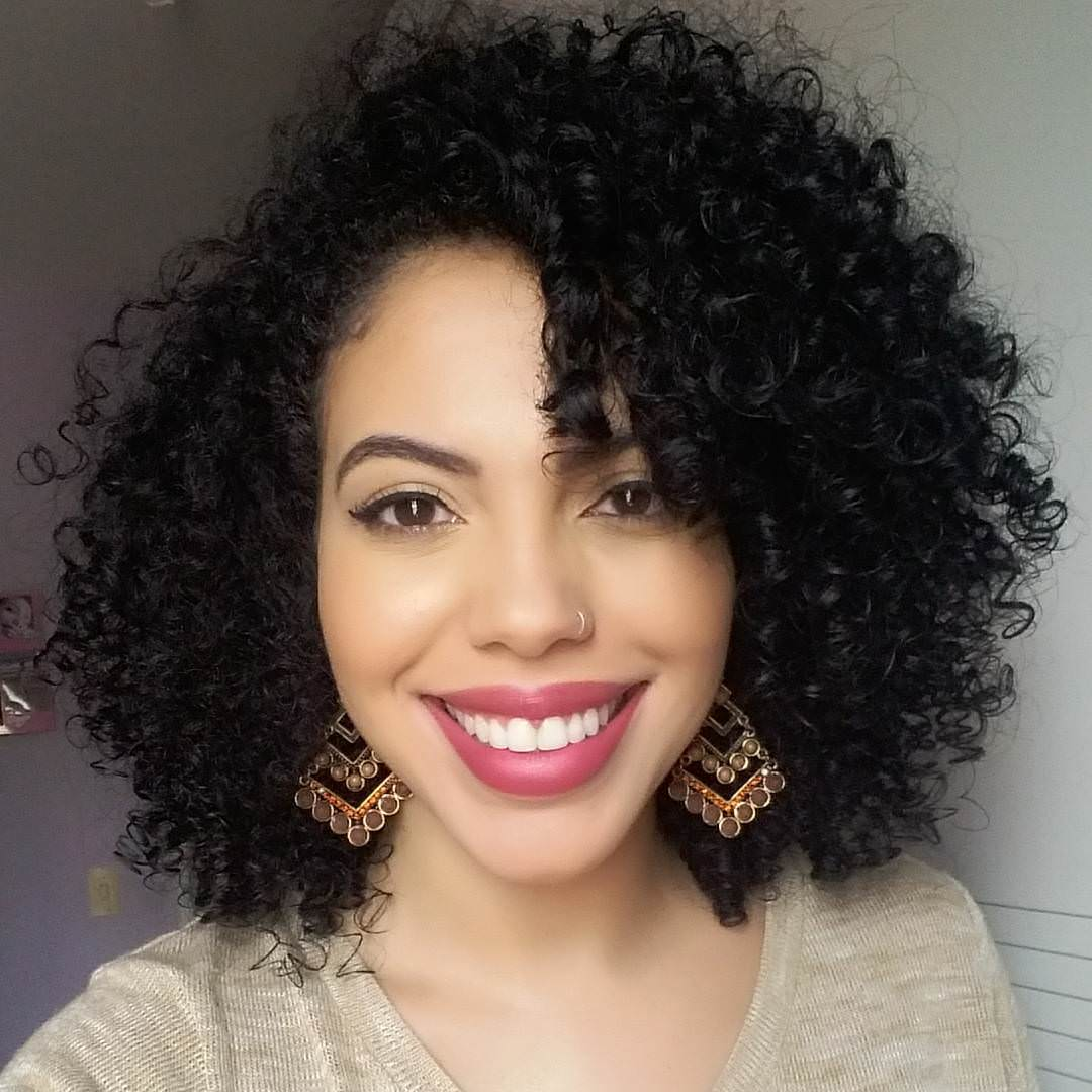 trendy black curly hairstyle