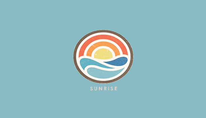 Sunrise and Waves Logo
