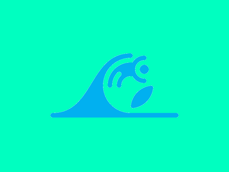 Wave Logo Surfing
