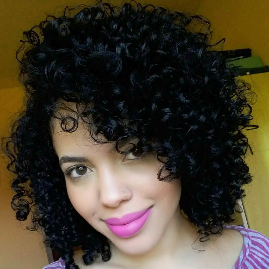 nice looking black curly hairstyle