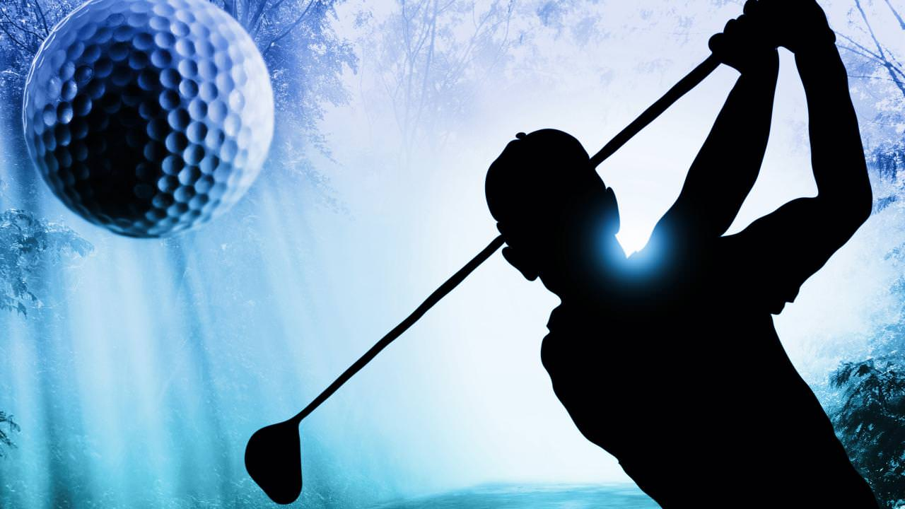 beautiful golf playing wallpaper