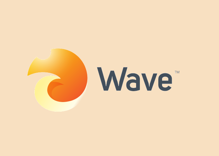3D Wave Logo Design